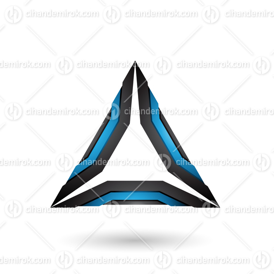 Blue and Black Mechanic Triangle Vector Illustration